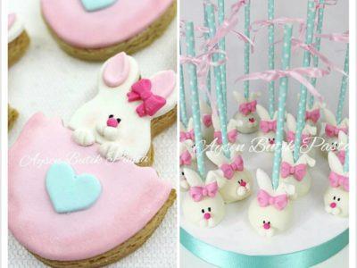 Diş buğdayı temalı cake pop ve kurabiyeler