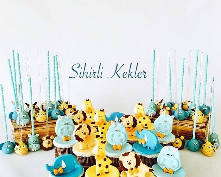Safari Temalı Cupcake ve Cakepoplar