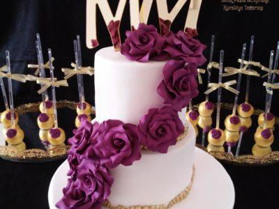 Gullu Nişan Pastasi_Altin cakepooslar