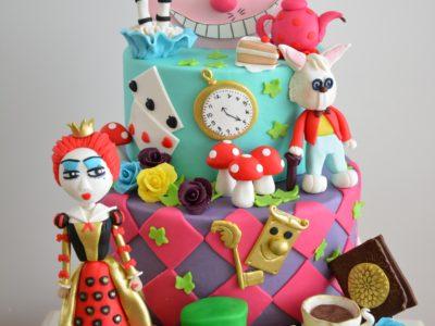 Alice Harikalar Diyarında Butik Doğum Günü Pastası :)