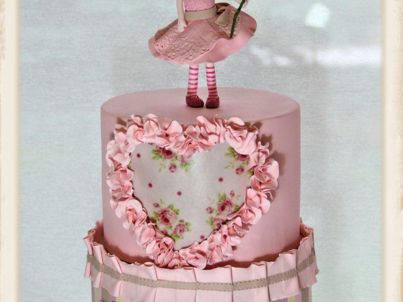 Kız bebek pastası-Babygirl Birthday Cake