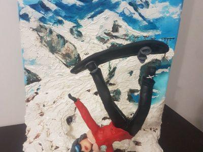 Erciyes Kayak Merkezinde Snowboard Yapan Kız